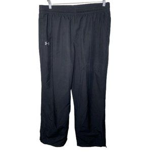 Under Armour Black Mesh Lined Pull On Track Pants